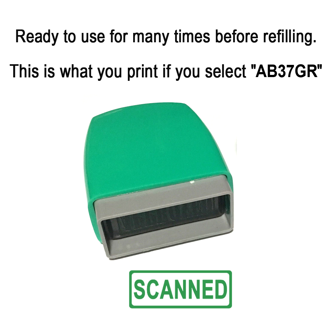 Custom Self inking Stamp. With Frame line. 31x10mm